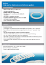 Platinum-cured silicone gaskets (5000 series) datasheet