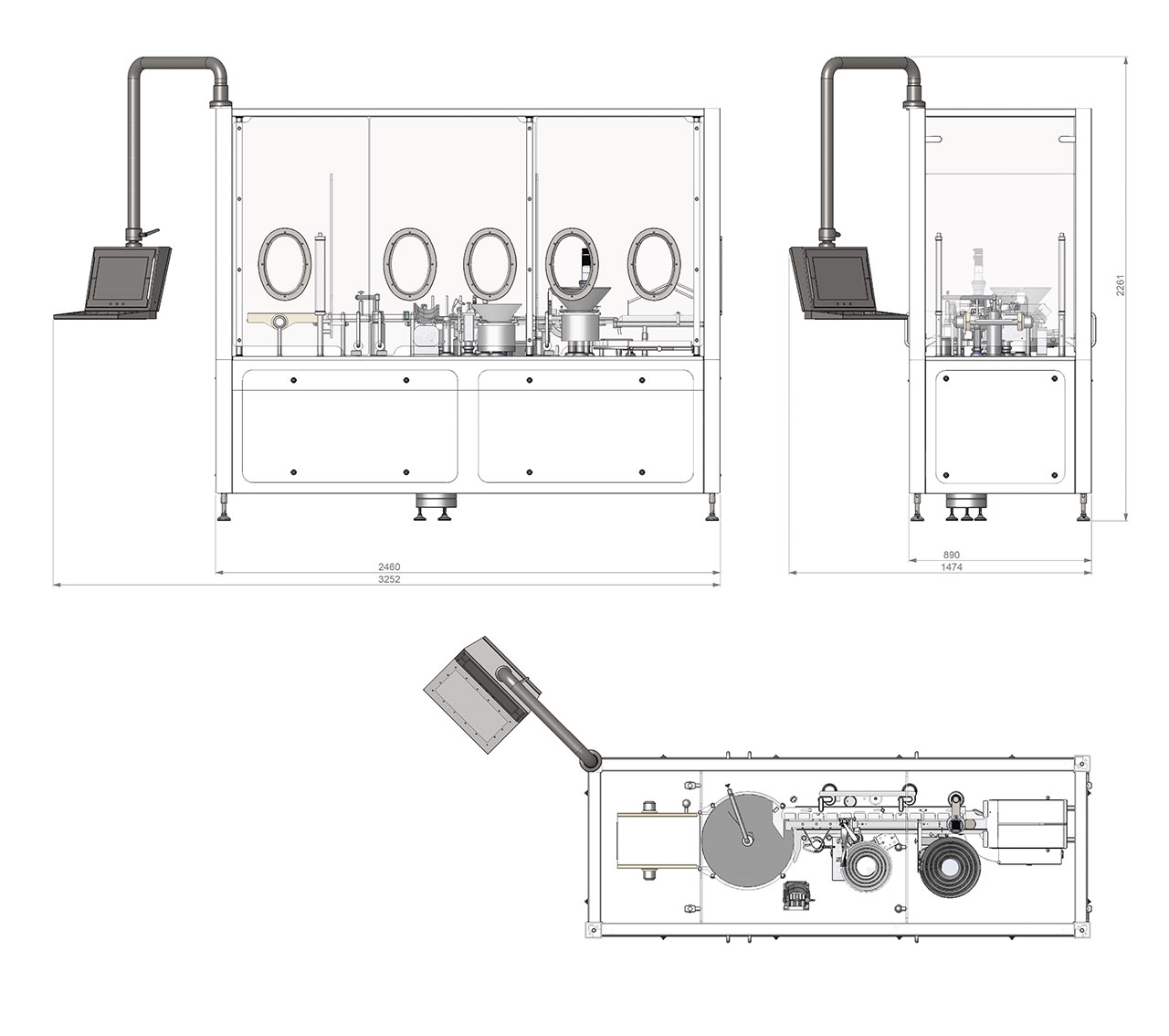 FPC60 Technical drawing